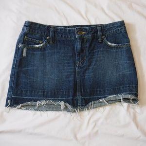 American Eagle Jean Denim Mini Skirt Distressed